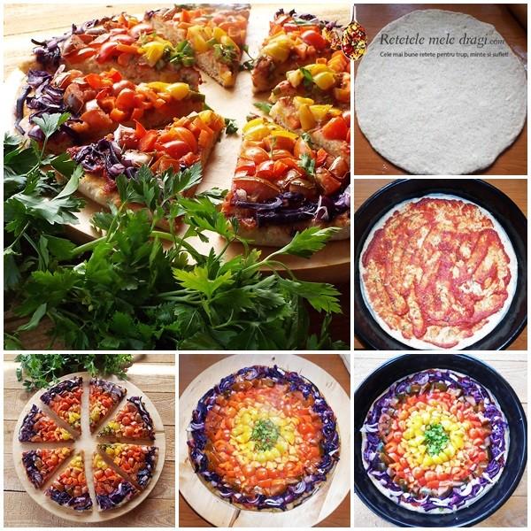 Pizza Vegana Curcubeu preparare