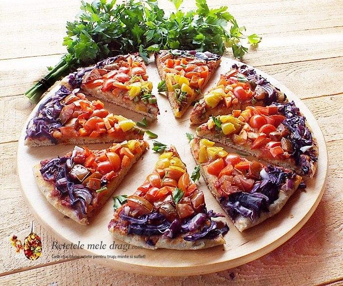 Pizza Vegana Curcubeu