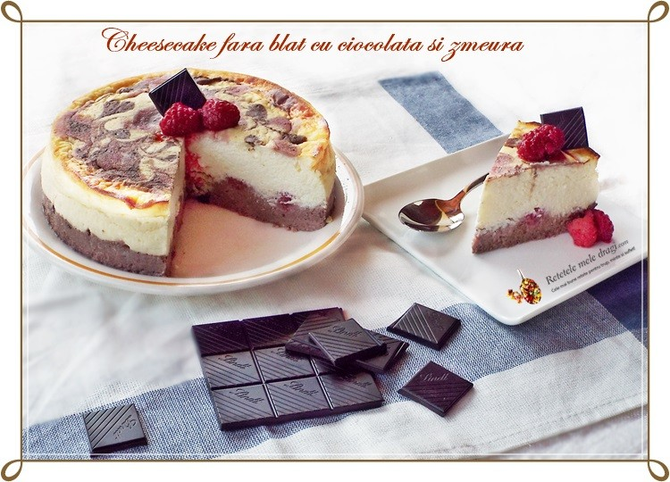 cheesecake fara blat cu ciocolata si zmeura2