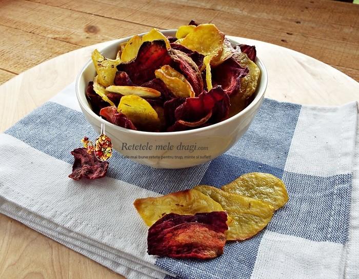 chipsuri de legume la cuptor1