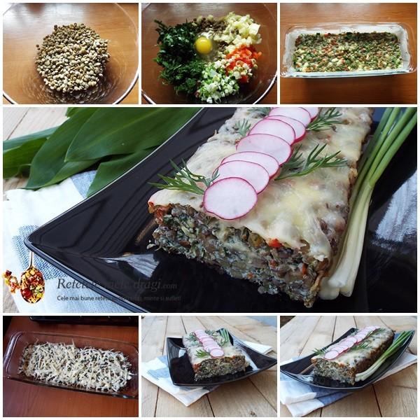 drob vegetarian cu linte. preparare