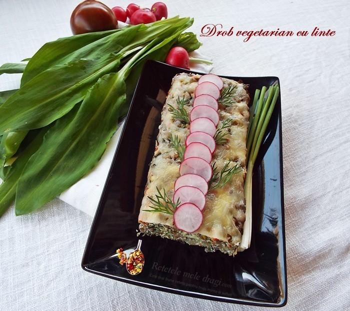 drob vegetarian cu linte