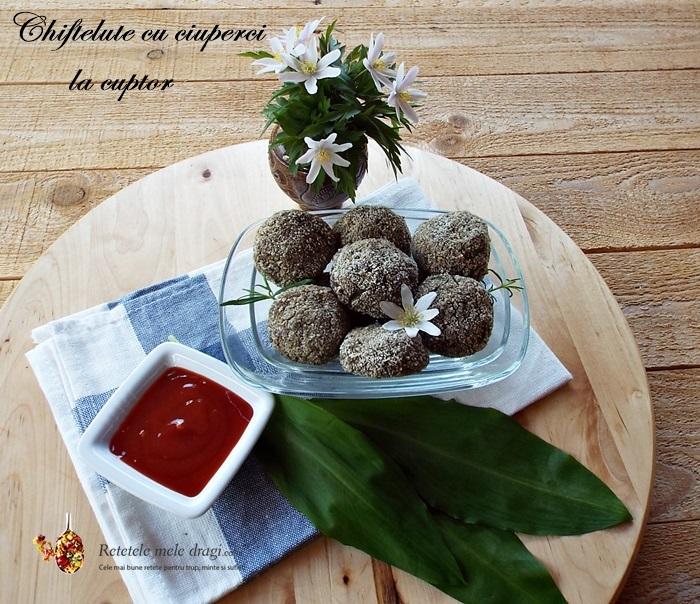 Chiftelute cu ciuperci la cuptor