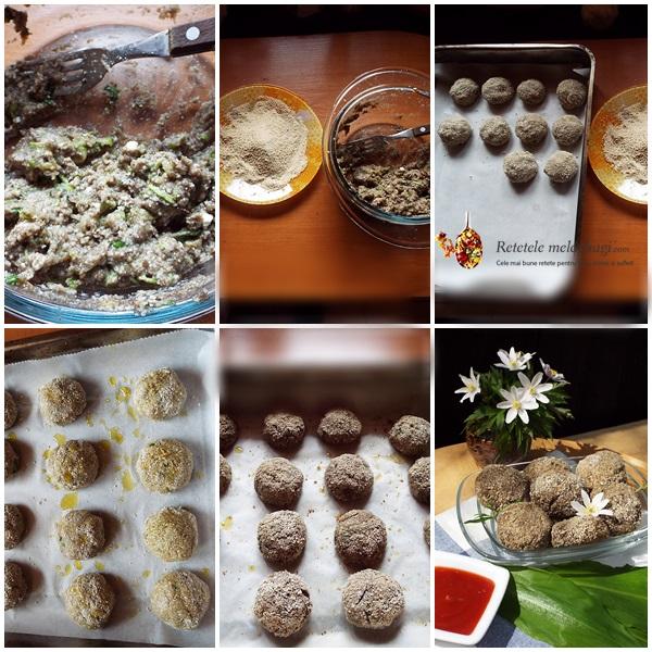 Chiftelute cu ciuperci la cuptor2