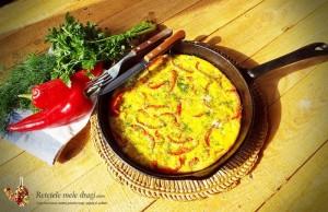 omleta la cuptor cu cartofi si ardei gras1