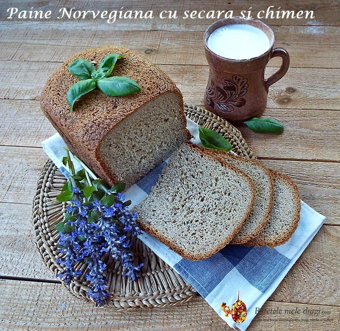 Paine norvegiana cu secara si chimen