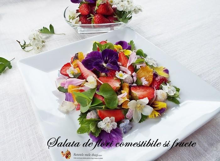 salata de flori comestibile si fructe1