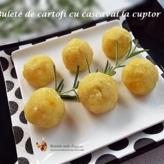 bulete de cartofi cu cascaval la cuptor1