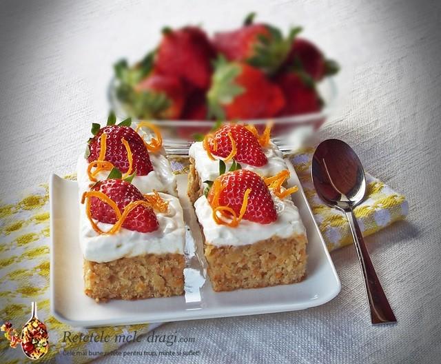 prajitura cu morcov si ananas