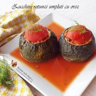 Zucchini rotunzi umpluti cu orez1