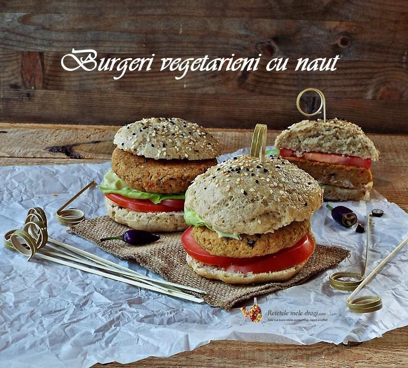 Burgeri vegetarieni cu naut