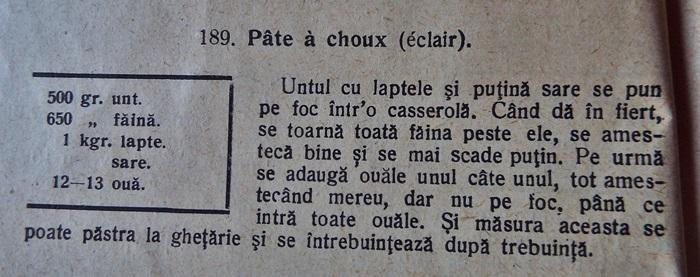 mini eclere cu ciocolata si frisca--reteta originala
