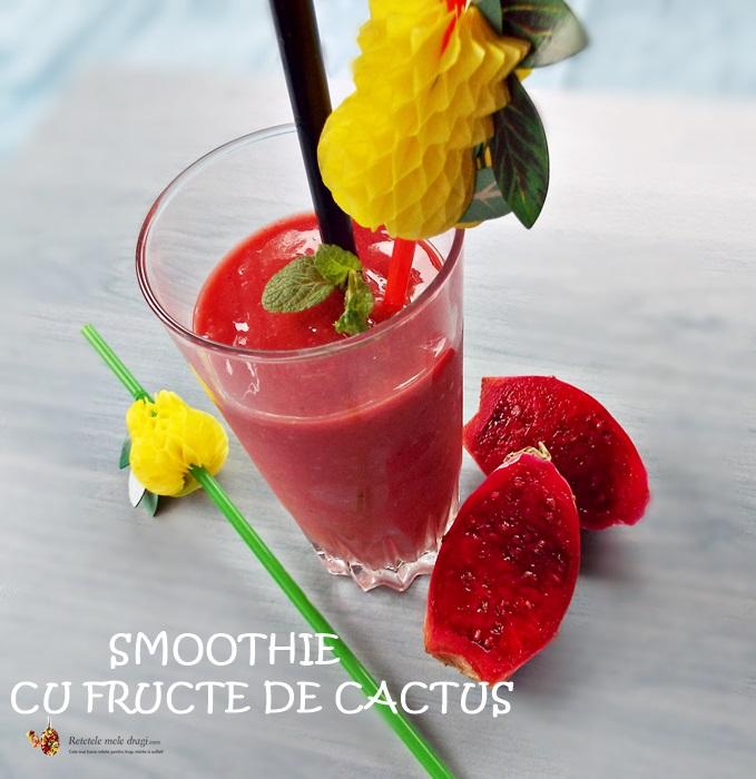 smoothie cu fructe de cactus