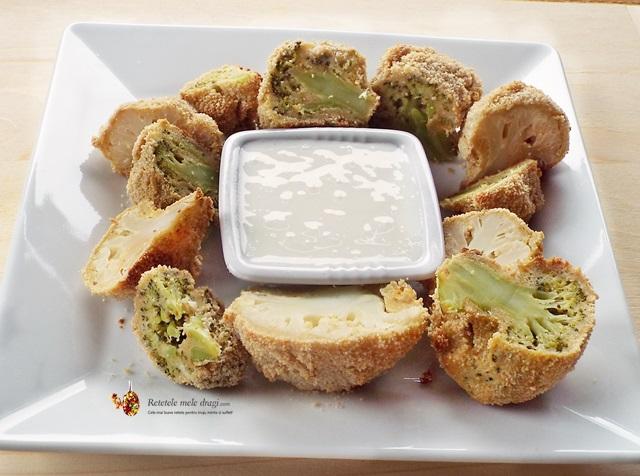broccoli si conopida pane la cuptor