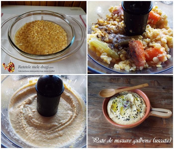 pate de mazare galbena (uscata) preparare