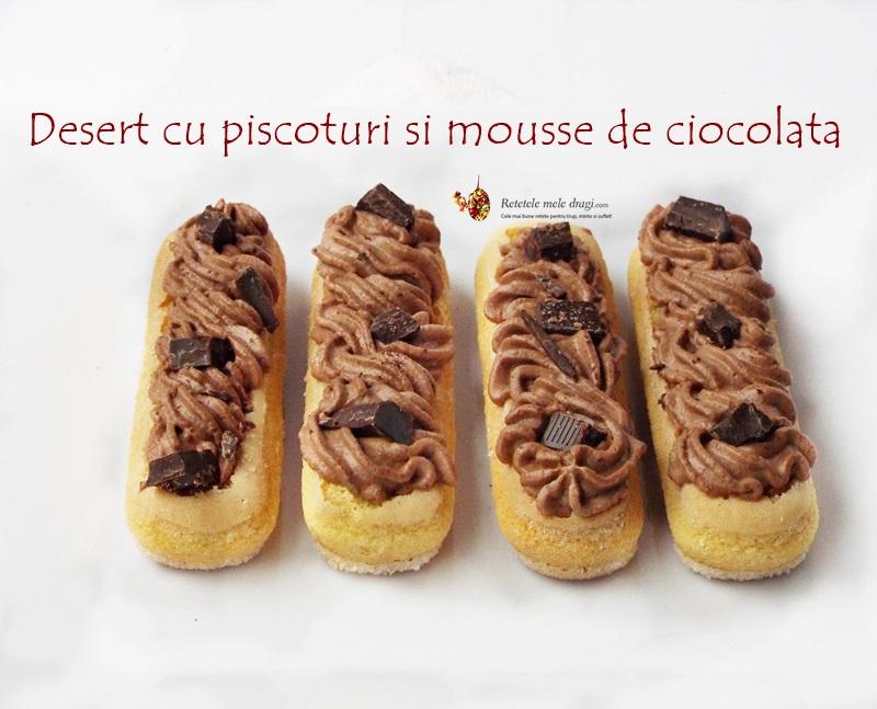 desert cu piscoturi si mousse de ciocolata 1