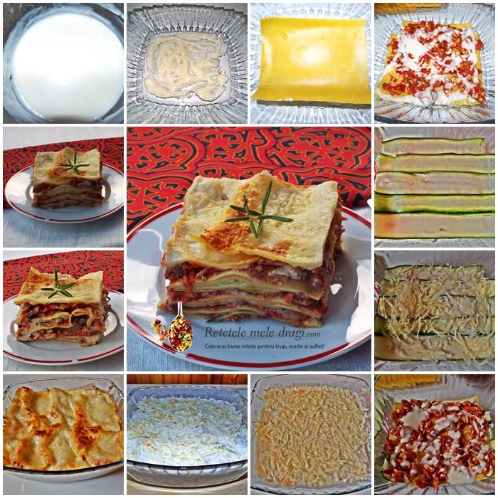 lasagna cu legume preparare