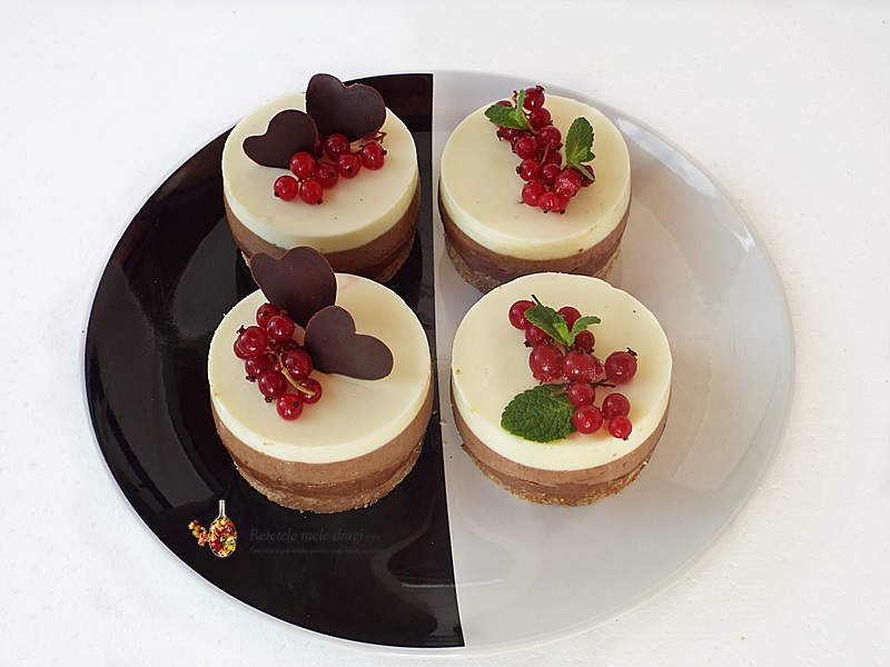 cheesecake cu trei feluri de ciocolata 3