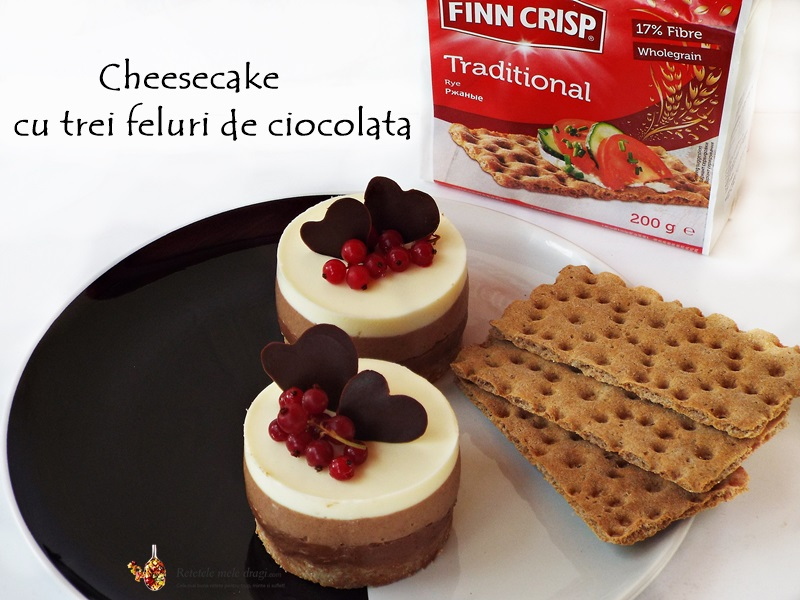 cheesecake cu trei feluri de ciocolata 4