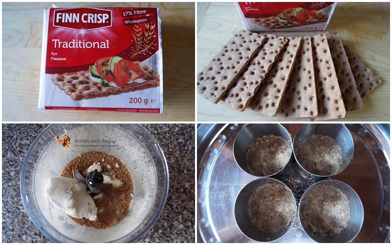 cheesecake cu trei feluri de ciocolata preparare blat