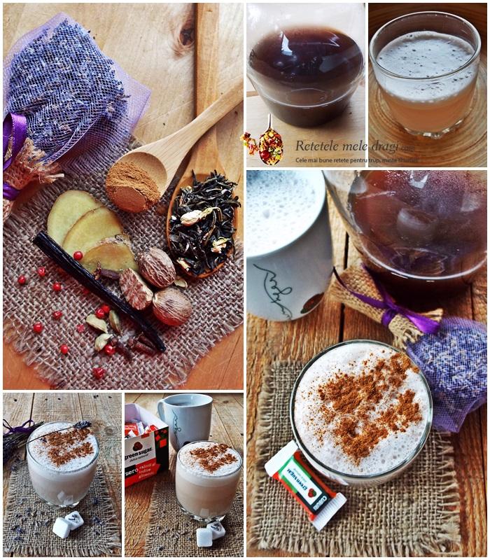Chai Latte cu levantica si iasomie preparare