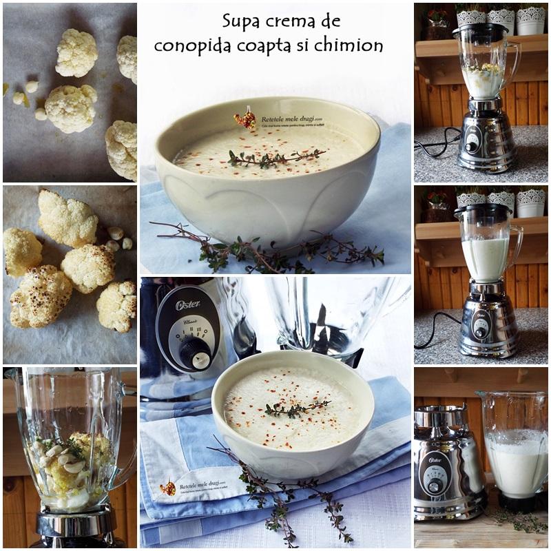 supa crema de conopida coapta si chimion preparare
