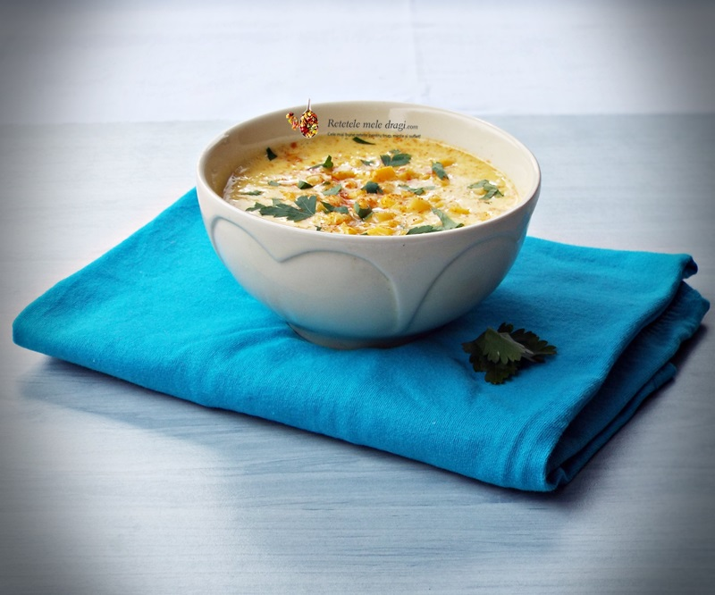 supa crema de porumb cu caju (chowder)