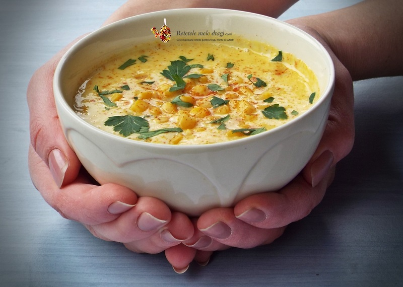 supa crema de porumb cu caju (chowder)3