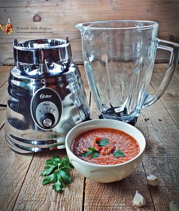 supa crema de rosii uscate cu busuioc si cimbru 1