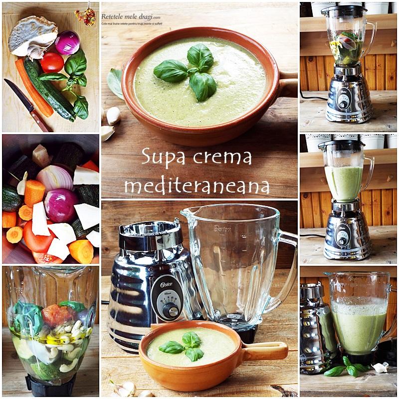 supa crema mediteraneana preparare