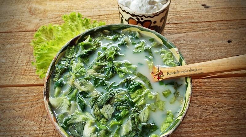 ciorba de salata cu spanac si urzici