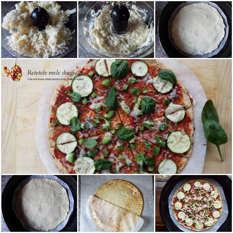 pizza cu blat de conopida 2