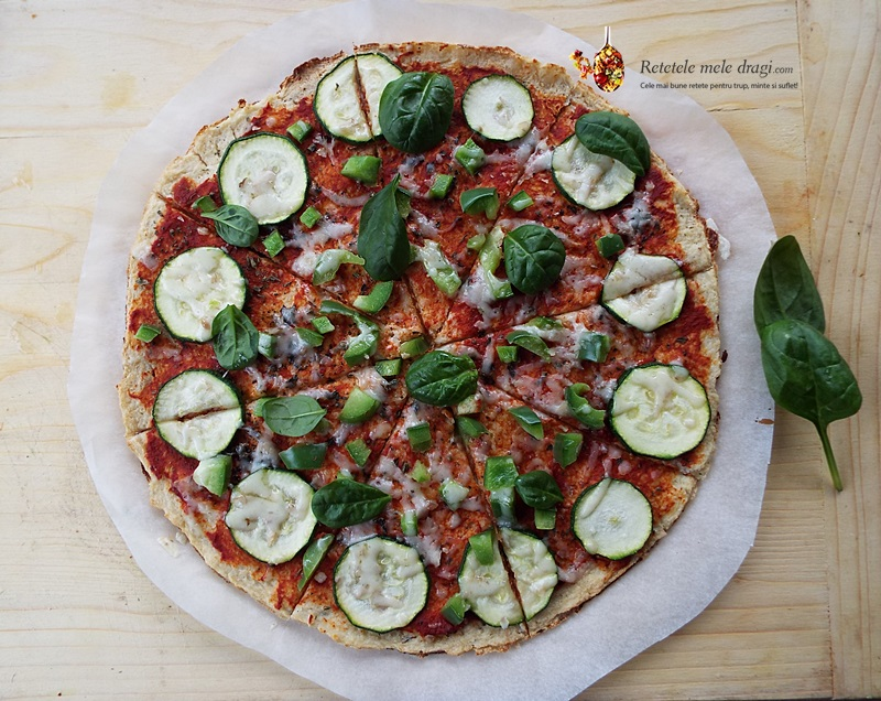 pizza cu blat de conopida 3