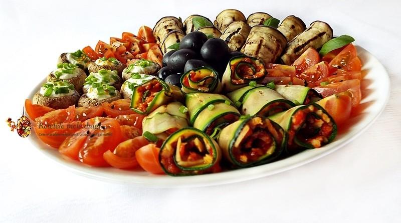 platou cu aperitive vegetariene1
