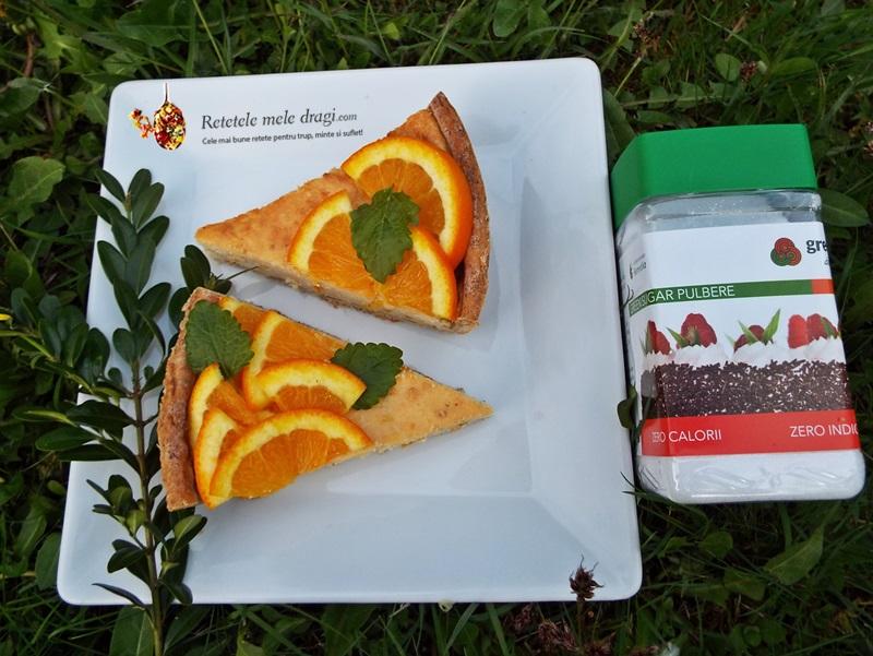 tarta cu branza si portocale Green Sugar