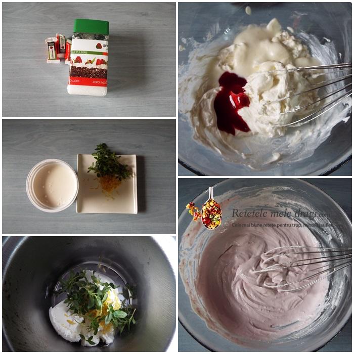 Prajitura festiva cu zmeura si Green Sugar crema mascarpone