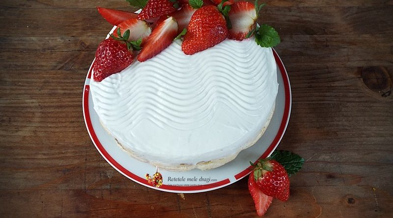 cheesecake cu vanilie si capsuni 1