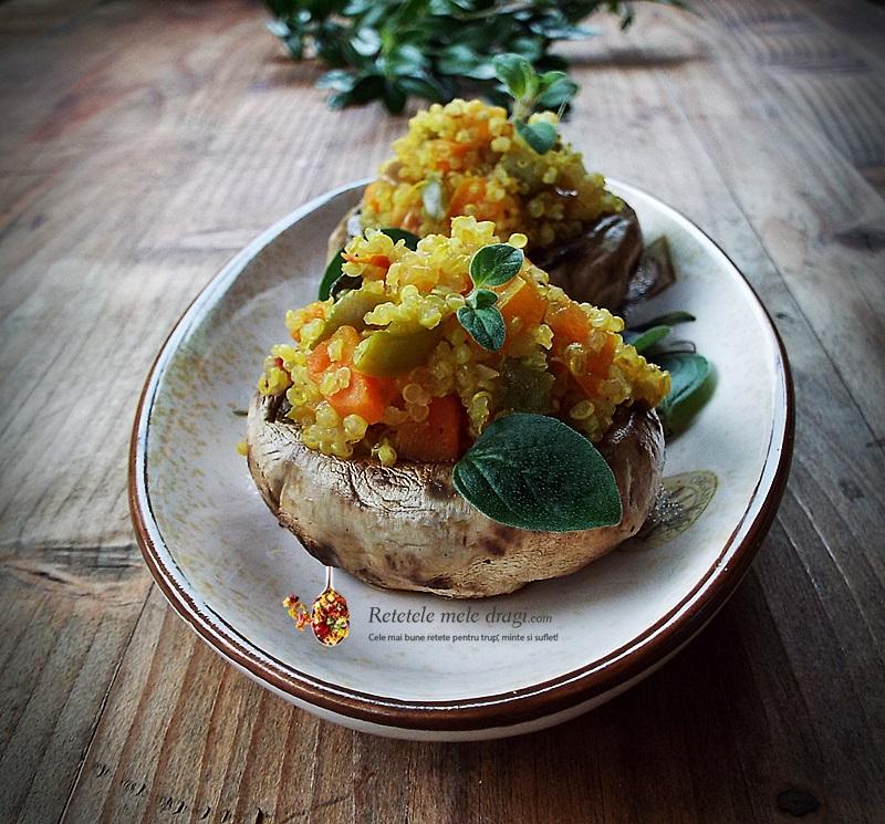ciuperci umplute cu quinoa si legume 2