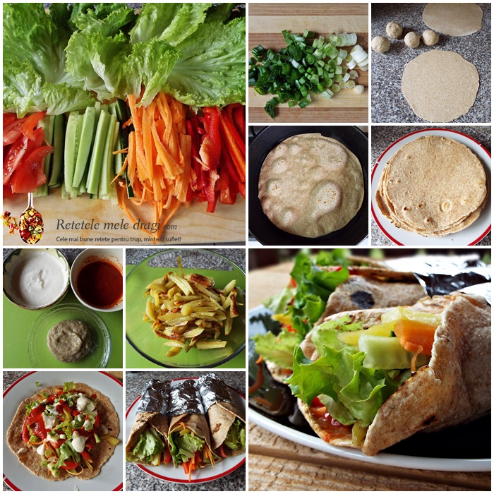 shaorma vegetariana preparare