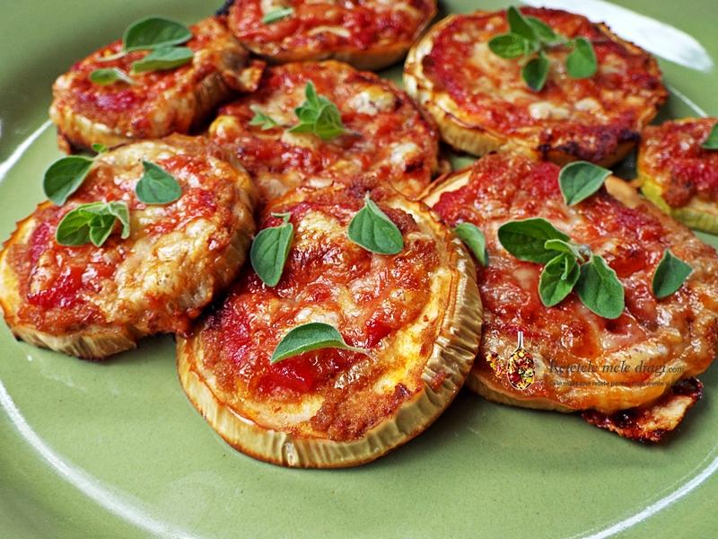 mini pizza pe felii de vinete si dovlecei varianta vegetariana 0
