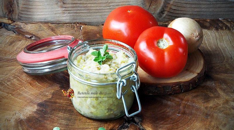 salata de vinete cu dovlecei la borcan