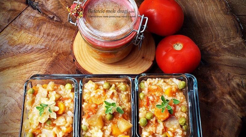 Tocana de legume cu orez pentru iarna (ghiveci) 1