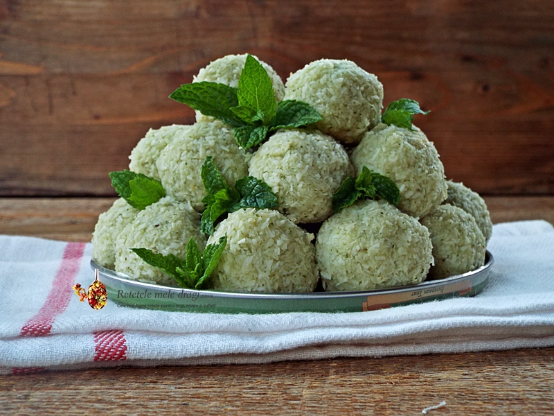 bomboane fara zahar cu cocos si menta 1
