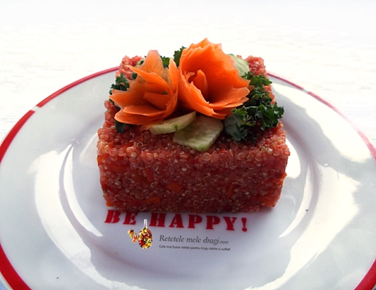 quinoa cu rosii si morcov