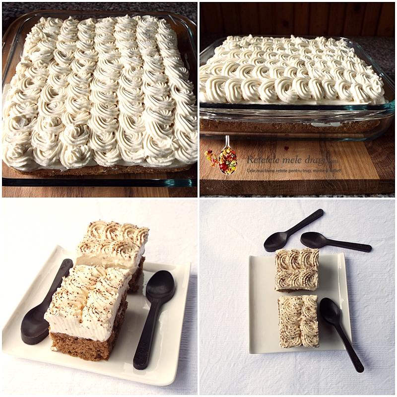prajitura Tiramisu cu blat simplu 2