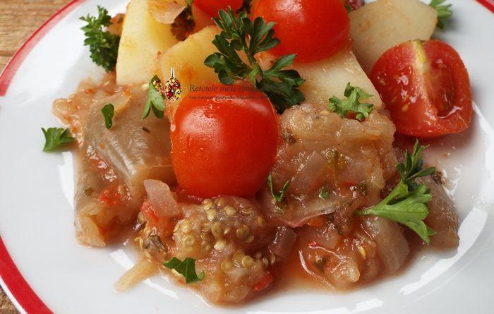 mancare de cartofi cu vinete la cuptor 1