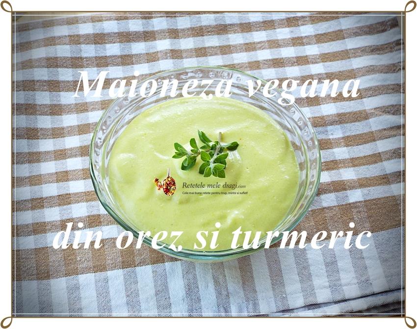 Maioneza vegana din orez si turmeric
