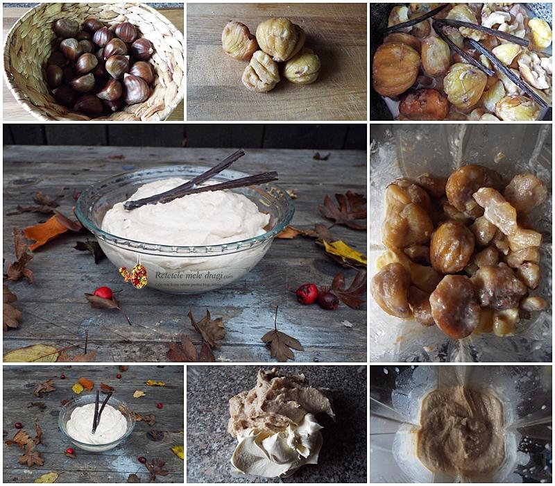 Crema de castane cu mascarpone preparare