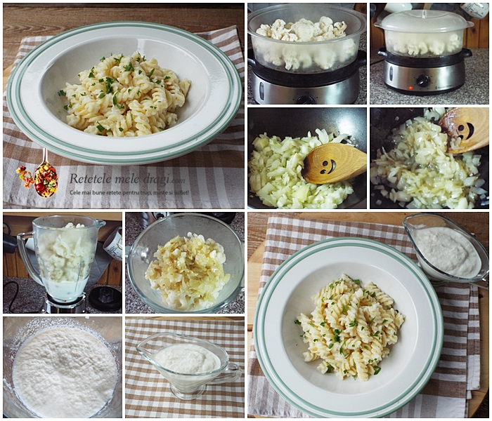 Paste cu sos de conopida preparare