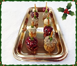 Aperitiv festiv Bilute cu patru feluri de branza (quattro formaggi)